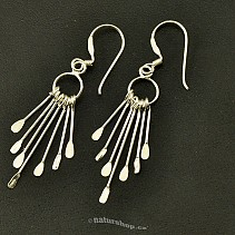 Silver earrings with pendants Ag 925/1000