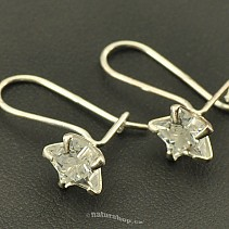 Silver earrings with cubic zirconia stars Ag 925/1000