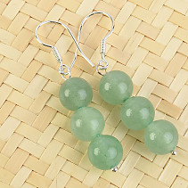 Aventurine Earrings beads 8 mm