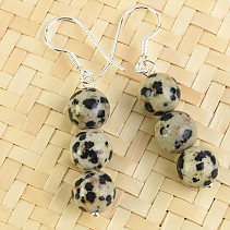 Earrings Dalmatian jasper beads