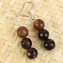 Earrings agate beads 8 mm