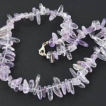 Light amethyst necklace 47 cm rods