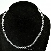 Crystal necklace beads 6 mm 46 cm