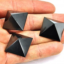 Pyramid Shungites (Russia), about 2 cm - Polished