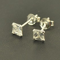Puzetkové earrings zircon silver Ag 925/1000