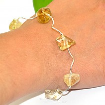 Silver bracelet with stones citrine Ag 925/1000