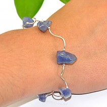 Silver bracelet with stones tanzanite Ag 925/1000