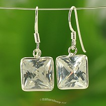 Silver earrings with cut stones Ag
