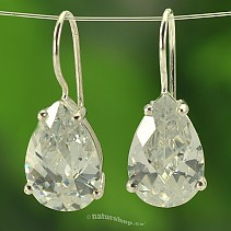 Ag 925/1000 zircon drop earrings