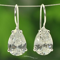 Ag 925/1000 drop earrings white zircon