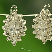 Elegant zirconia earrings extra Ag 925/1000