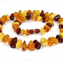 Amber necklace irregular shapes mix 50 cm