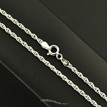 Ag 925/1000 silver chain 60 cm approx 5.8 g