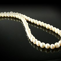 Pearl Necklace White Round 8 mm 45 cm