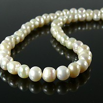White pearl necklace 8 mm 50 cm