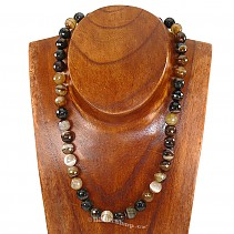 Agate - onyx necklace beads 47 cm