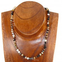 Agate - onyx necklace beads 42 cm