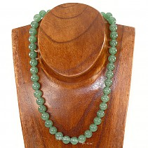 Aventurine necklace of beads 10 mm 46 mm
