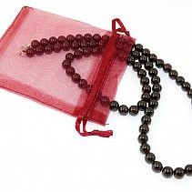 8 mm garnet beads jewelry set - necklace + bracelet 50 cm