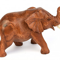 Brown elephant with trunk up 19 cm