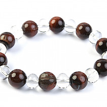 Bull's eye and crystal bracelet beads 20 mm
