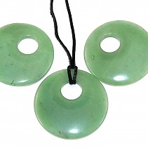 Pendant Aventurine leather 50 mm