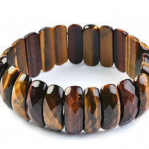 Tiger and bull's eye bracelet wider cut