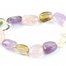 Tromle bracelet with stones amethyst, citrine, rose quartz and Prehnite
