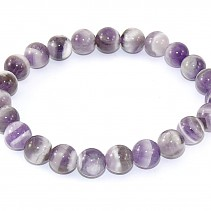 Amethyst bracelet striped balls 9 mm