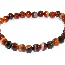 Smooth agate bracelet beads 6 mm