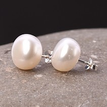 Pearl earrings Ag puzetka