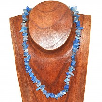 Blue agate (dyed) necklace 50 cm