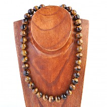 Tiger eye necklace beads 14 mm 53 cm