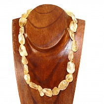 Tumbled citrine necklace 50 cm