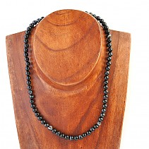 Agate, onyx necklace beads 6 mm 45 cm