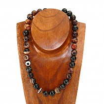 Agate, onyx necklace beads 14mm 50 cm