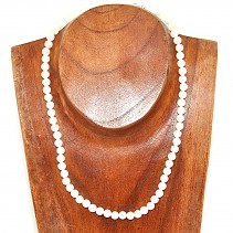 Pearl necklace beads 6 mm 45 cm