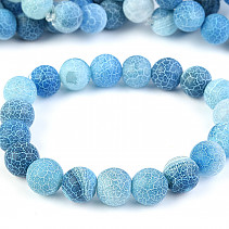 Dyed blue agate bracelet beads 10 mm