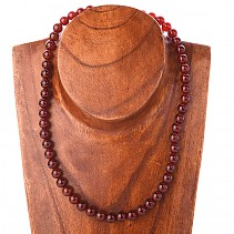 Carnelian necklace beads 8.5 mm 48 cm