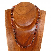 Agate necklace beads 6mm 45 cm