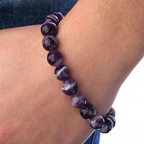 Cut amethyst bracelet beads 10 mm