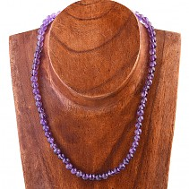 Amethyst necklace beads 6.5 mm 45 cm
