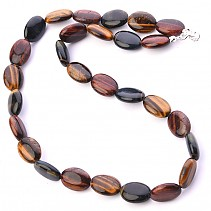 Tiger, falcon and bull's eye necklace mix ovals