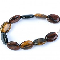 Tiger, falcon and bull's eye bracelet mix ovals 20.5 cm
