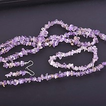Gift Set Ametrin jewelry earrings + bracelet + necklace 90 cm