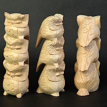 Owls 3 beneath her pale wood 15 cm