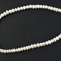 Pearl necklace 46 cm cream