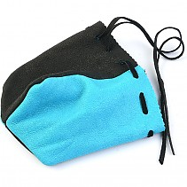 Purse leather turquoise and black