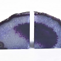 Agate purple decorative bookend from Brazil 1922 g