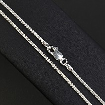 Braided cord necklace silver 55 cm approx 4.3 g Ag 925/1000
